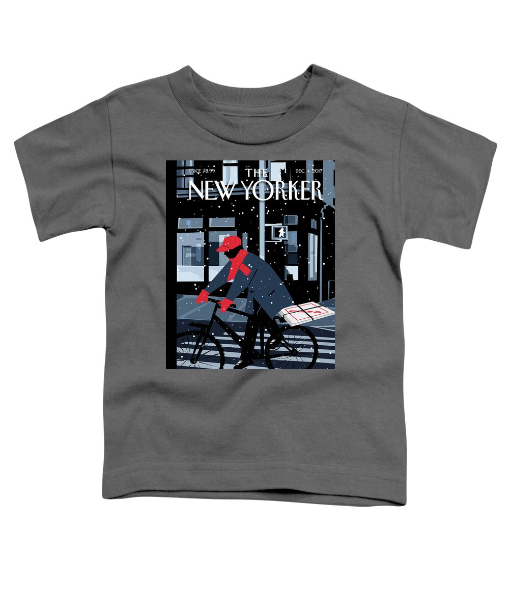 Special Delivery Toddler T-Shirt featuring the digital art Special Delivery by Kim DeMarco