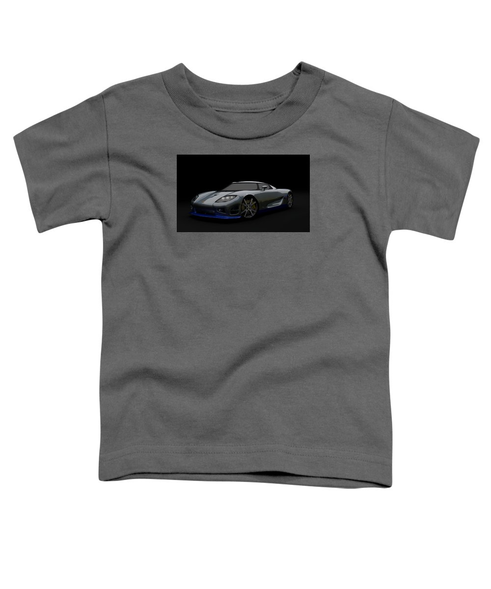 Speedy Toddler T-Shirt featuring the digital art Speedy Swede by Brainwave Pictures