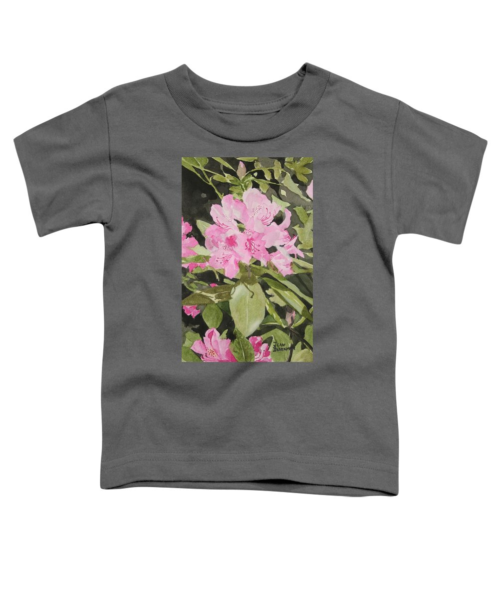 Flowers Toddler T-Shirt featuring the painting Spring At The Cabin by Jean Blackmer