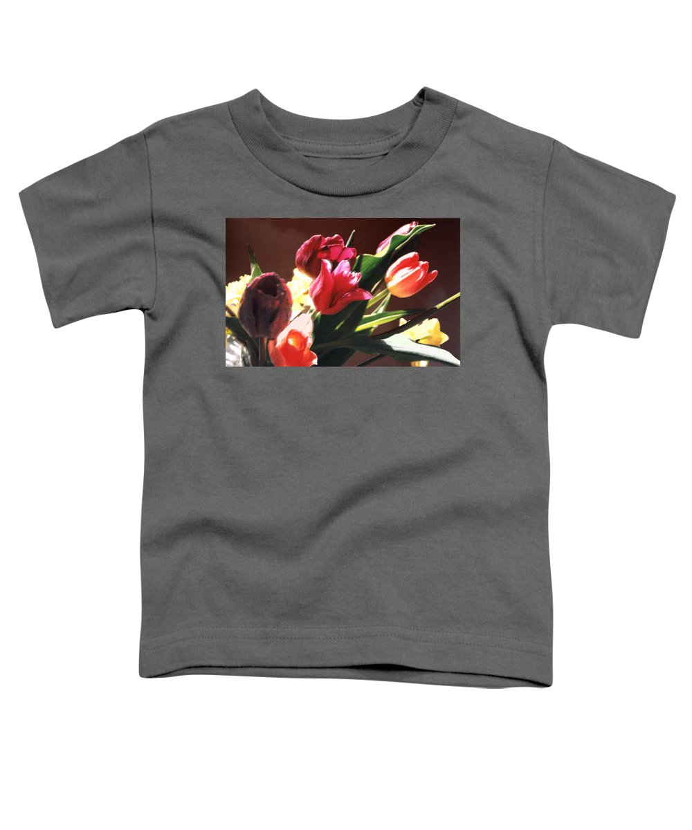 Floral Still Life Toddler T-Shirt featuring the photograph Spring Bouquet by Steve Karol