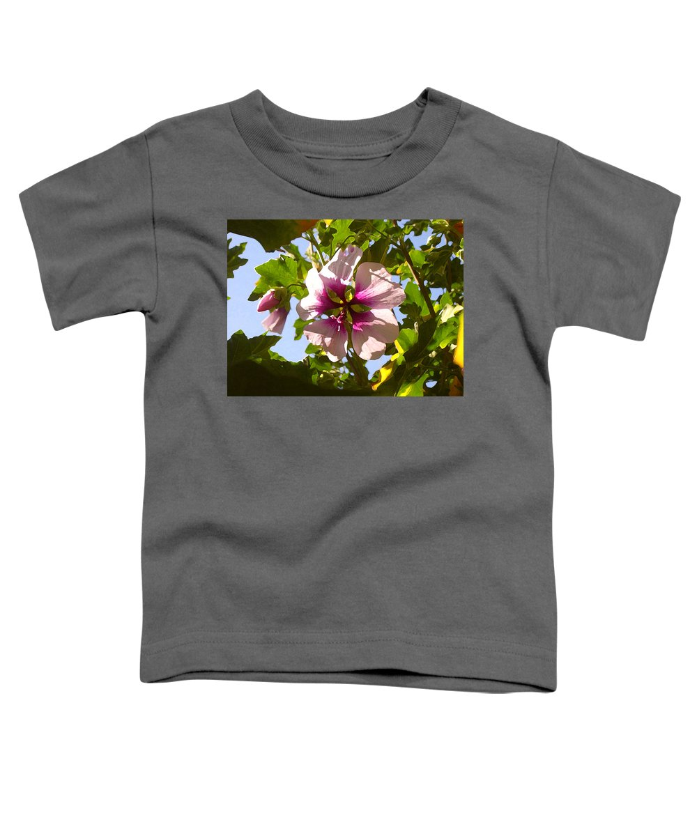 Flower Toddler T-Shirt featuring the painting Spring Flower Peeking Out by Amy Vangsgard