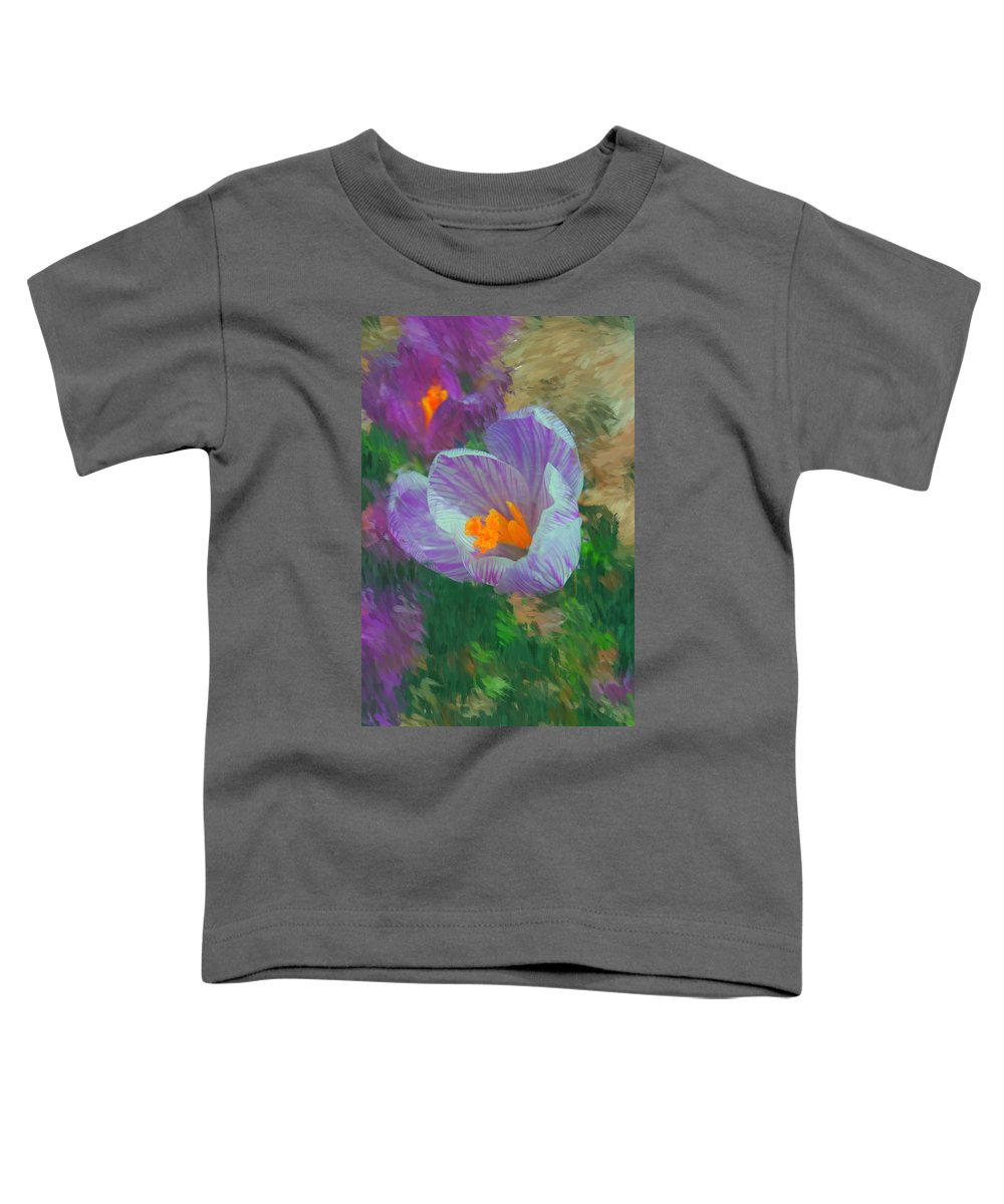 Digital Photography Toddler T-Shirt featuring the digital art Spring Has Sprung by David Lane