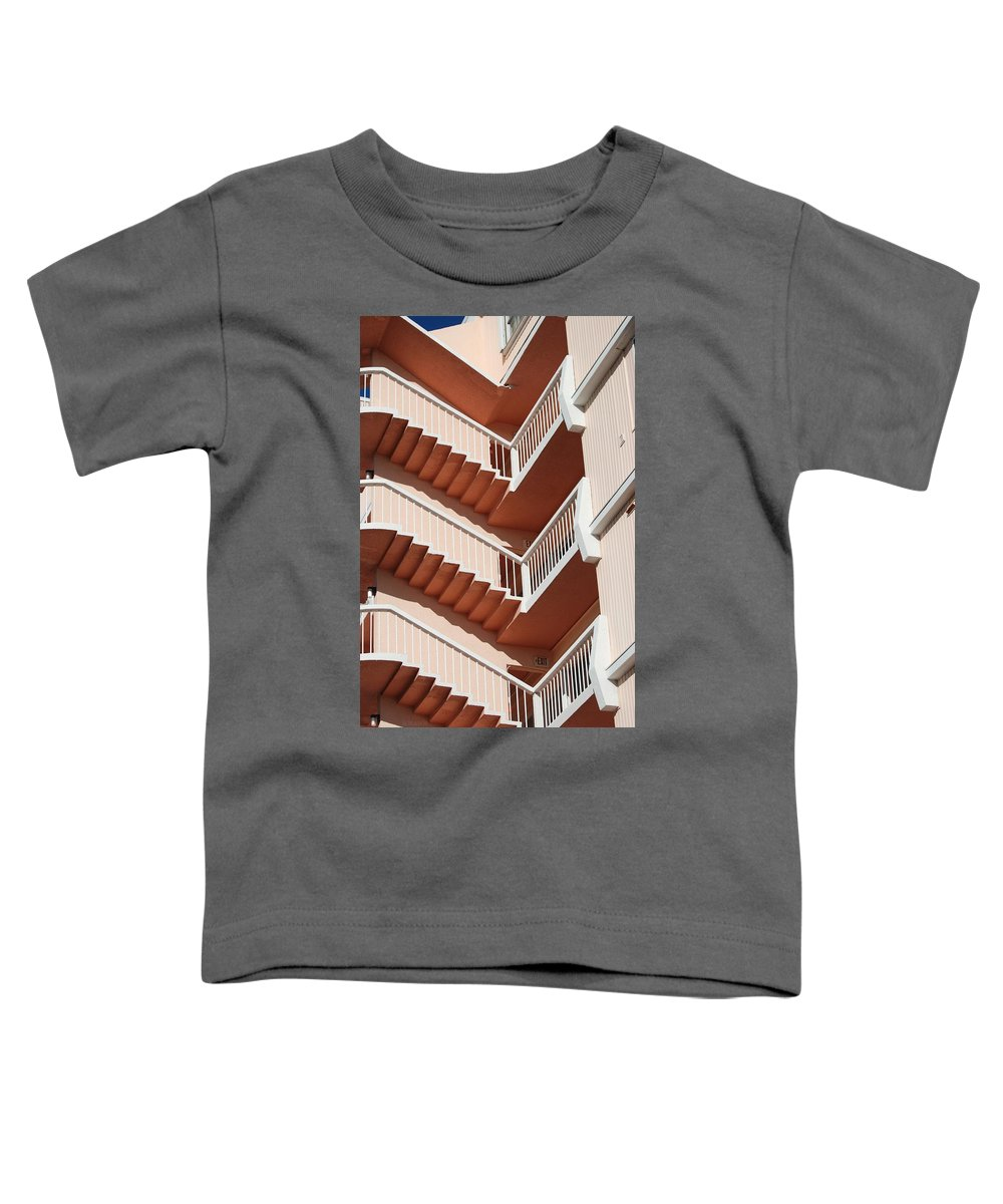 Architecture Toddler T-Shirt featuring the photograph Stairs And Rails by Rob Hans