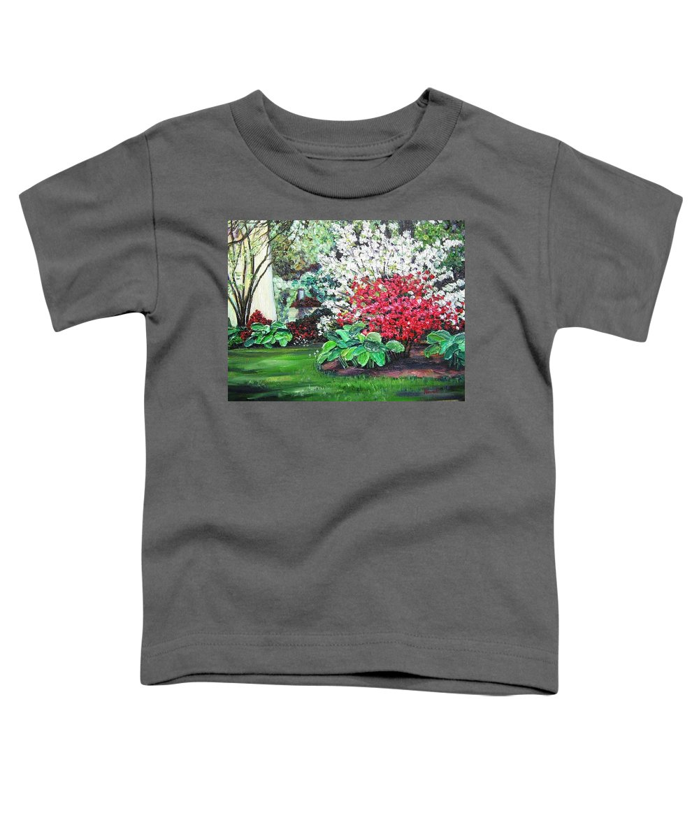 Blossoms Toddler T-Shirt featuring the painting Stanely Park Blossoms by Richard Nowak