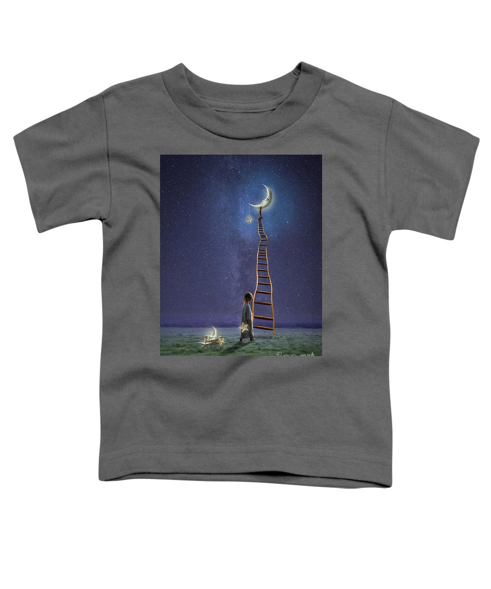 Beautiful Toddler T-Shirt featuring the digital art Star Keeper by Juli Scalzi