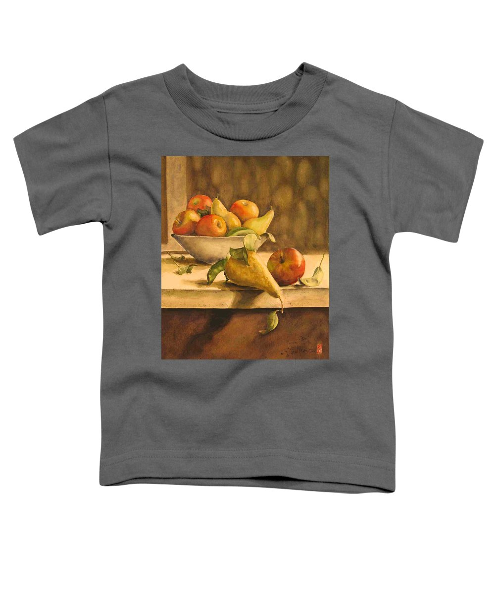Still-life Toddler T-Shirt featuring the painting Still-life With Apples And Pears by Piety Choi