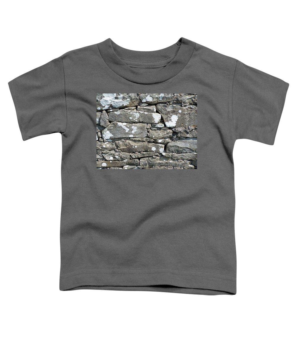 Irish Toddler T-Shirt featuring the photograph Stone Wall Detail Doolin Ireland by Teresa Mucha