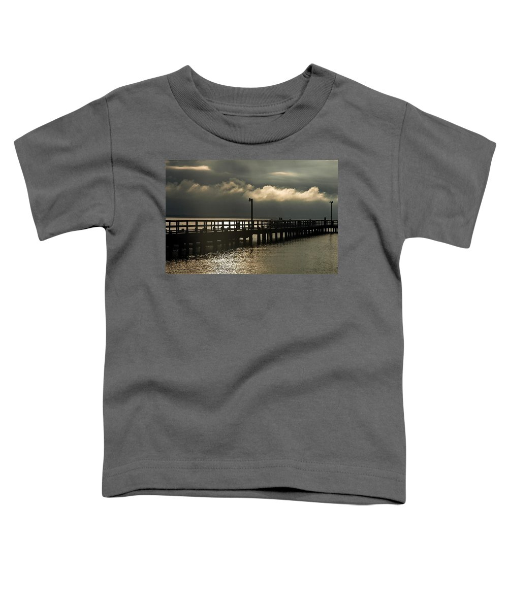 Clay Toddler T-Shirt featuring the photograph Storms Brewin' by Clayton Bruster