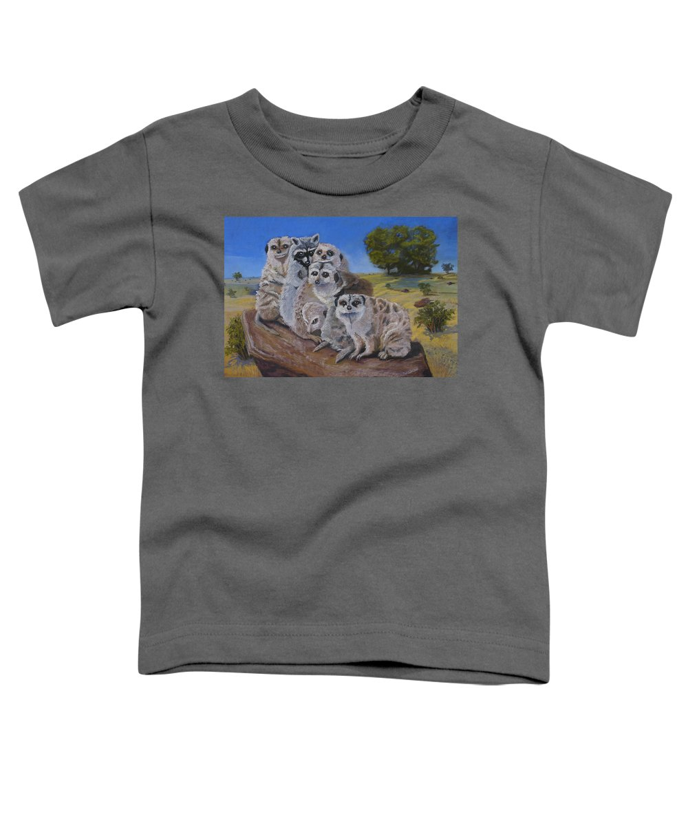 Meer Cat Toddler T-Shirt featuring the painting Stranger In A Strange Land by Heather Coen