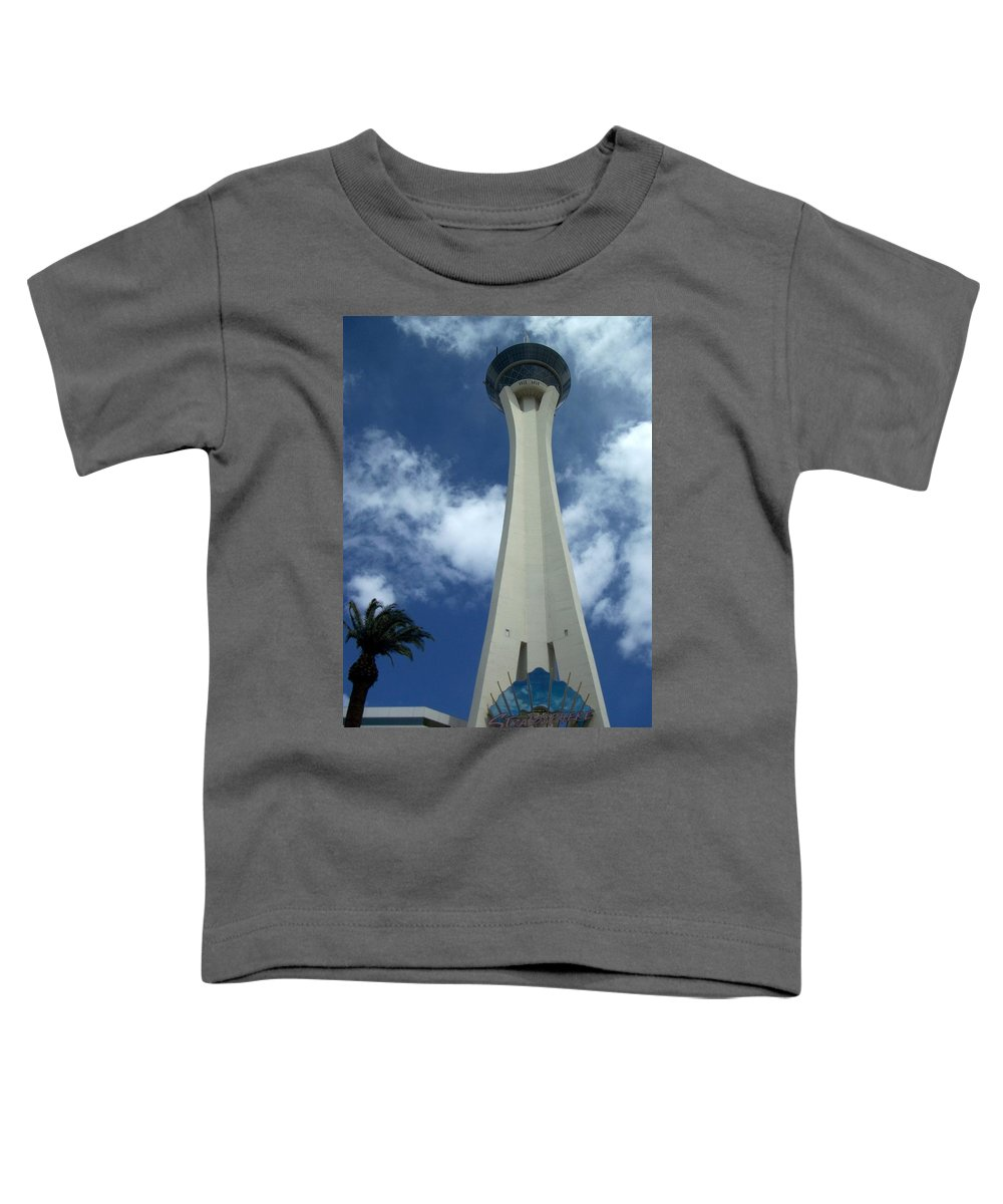 Stratosphere Tower Toddler T-Shirt featuring the photograph Stratosphere Tower by Anita Burgermeister