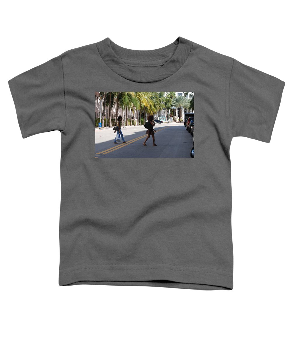 Girls Toddler T-Shirt featuring the photograph Street Walkers by Rob Hans