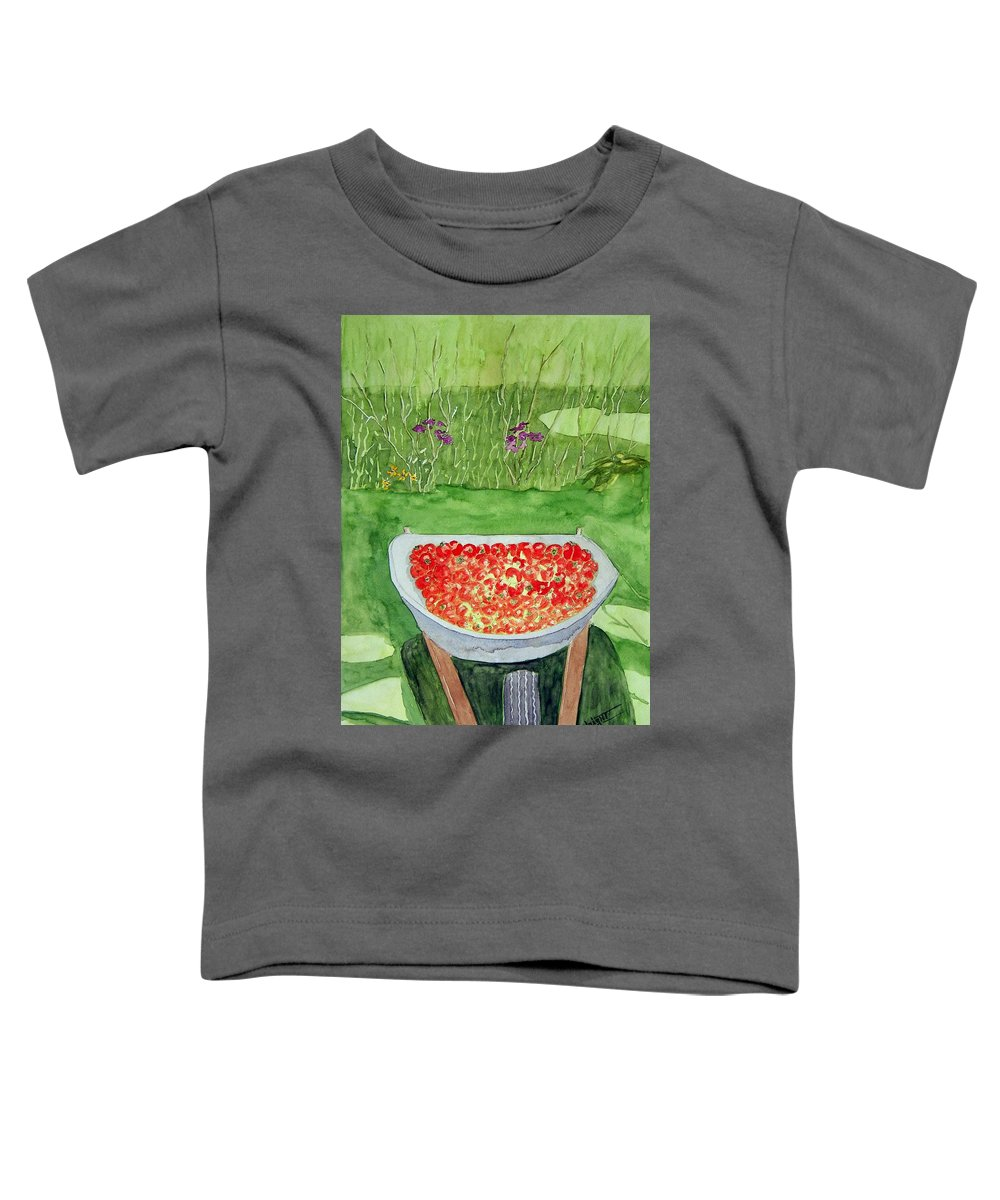 Rural Paintings Toddler T-Shirt featuring the painting Summer Bounty by Larry Wright