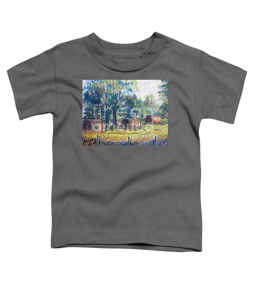 Landscape Toddler T-Shirt featuring the painting Summer Idyll by Jan Bennicoff