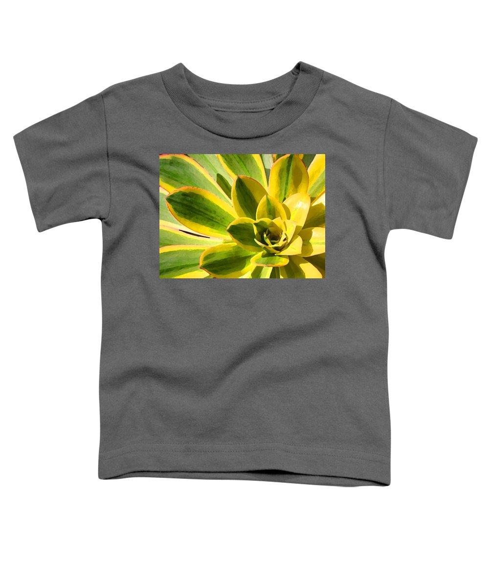 Landscape Toddler T-Shirt featuring the photograph Sunburst Succulent Close-up 2 by Amy Vangsgard