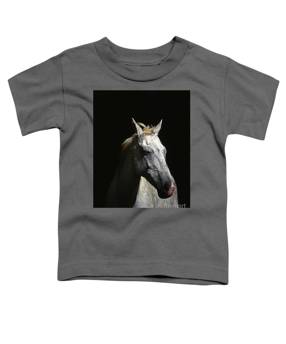 Horse Toddler T-Shirt featuring the photograph Sundance by Jim Cazel