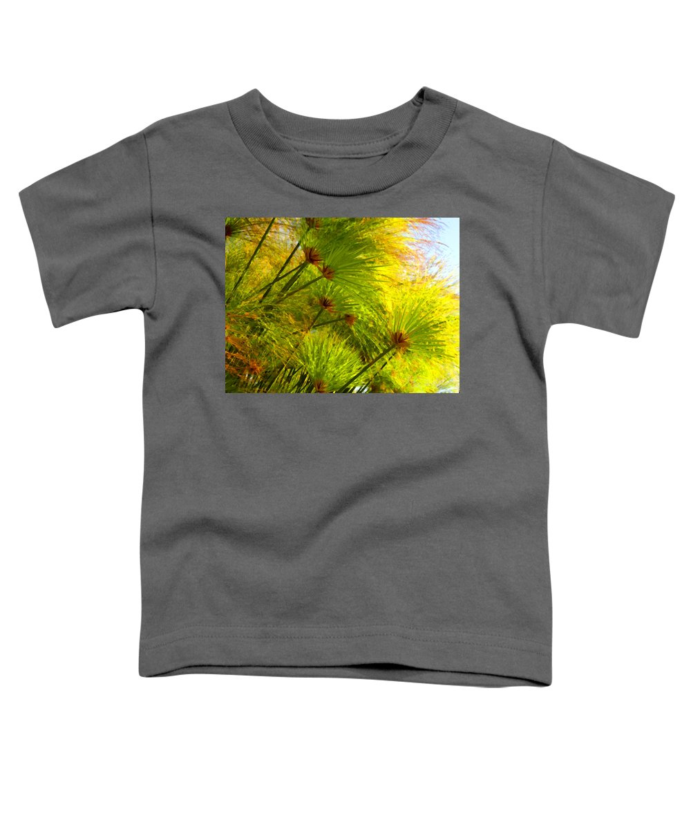 Landscape Toddler T-Shirt featuring the painting Sunlit Paparus by Amy Vangsgard