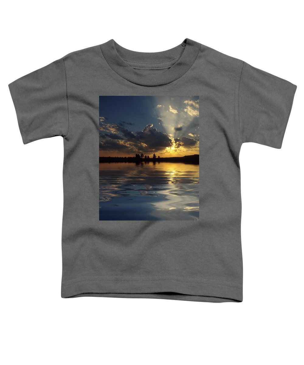 Sunset Toddler T-Shirt featuring the photograph Sunray Sunset by Jerry McElroy