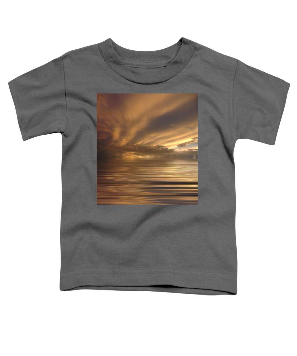 Sunset Toddler T-Shirt featuring the photograph Sunset At Sea by Jerry McElroy