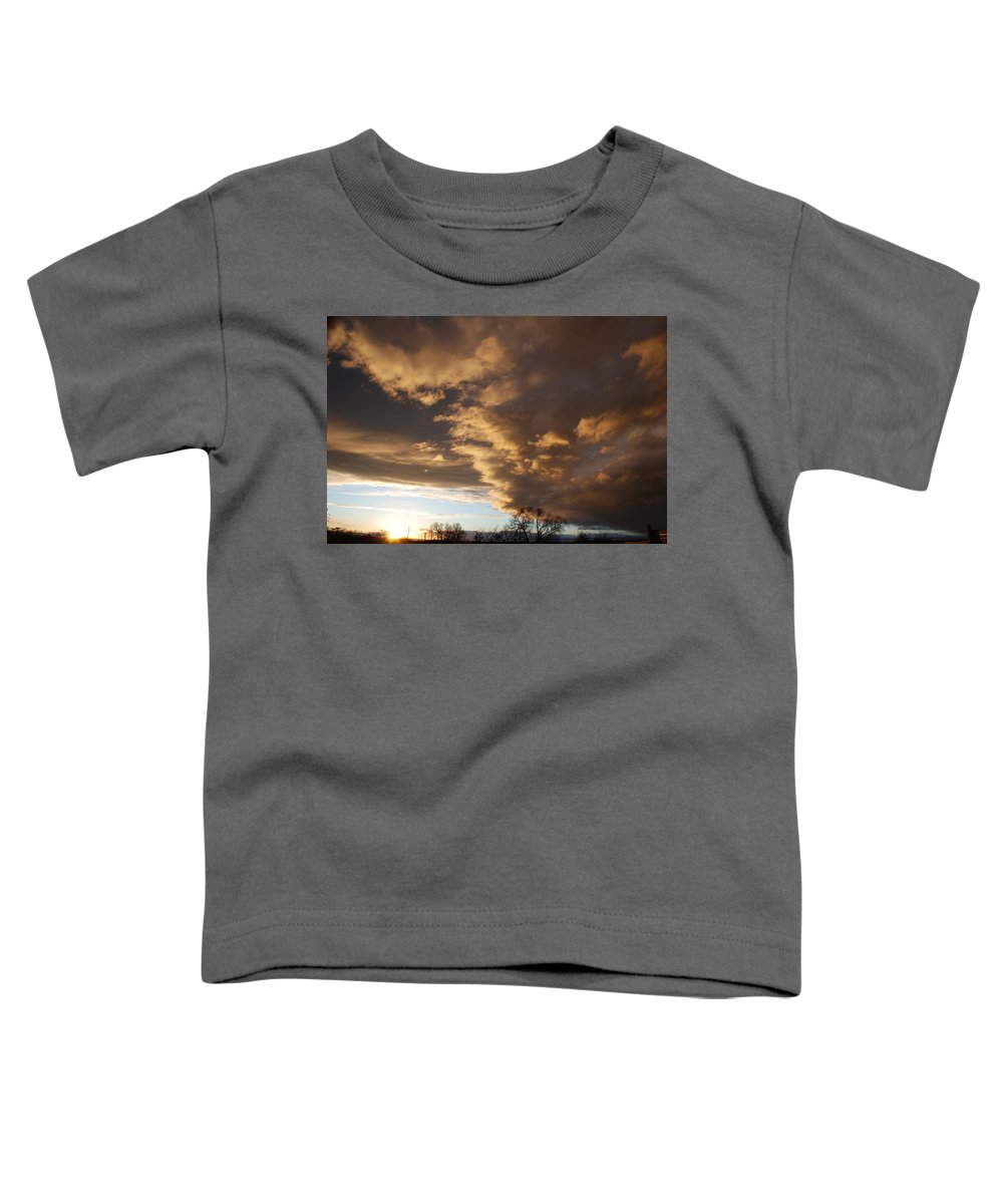 Sunset Toddler T-Shirt featuring the photograph Sunset At The New Mexico State Capital by Rob Hans
