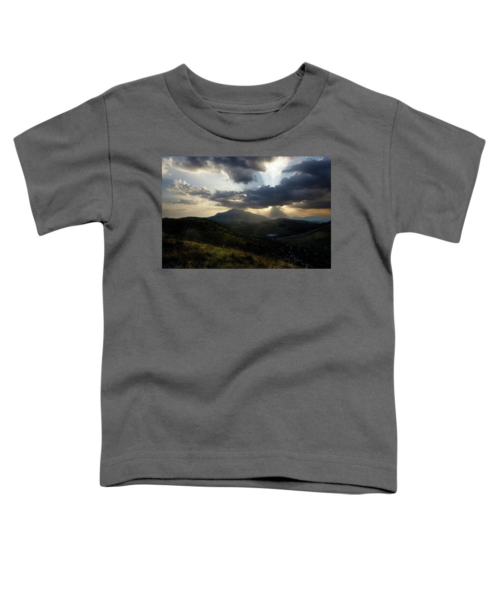 Indian Springs Toddler T-Shirt featuring the photograph Sunset over Indian Springs by Roy Nierdieck
