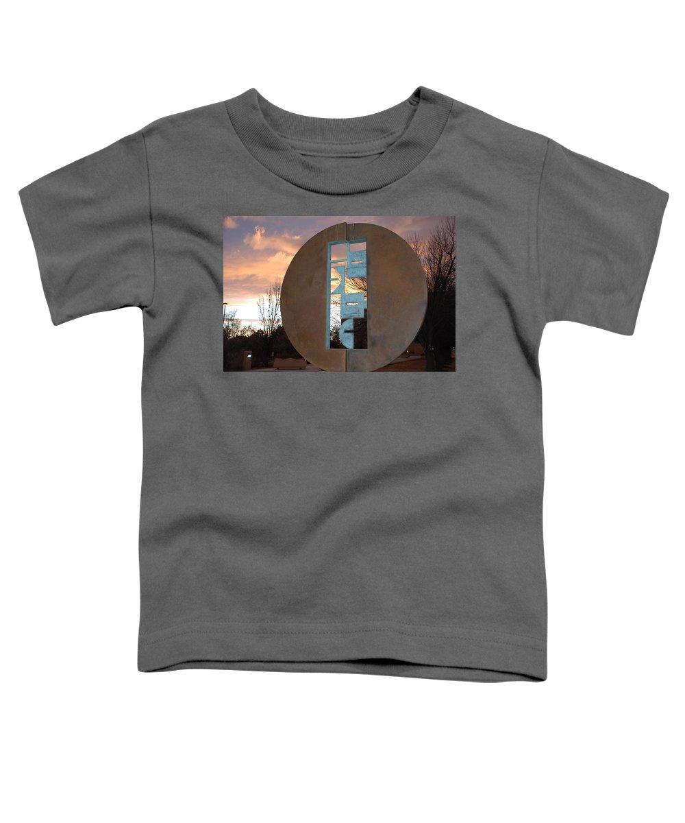 Pop Art Toddler T-Shirt featuring the photograph Sunset Thru Art by Rob Hans