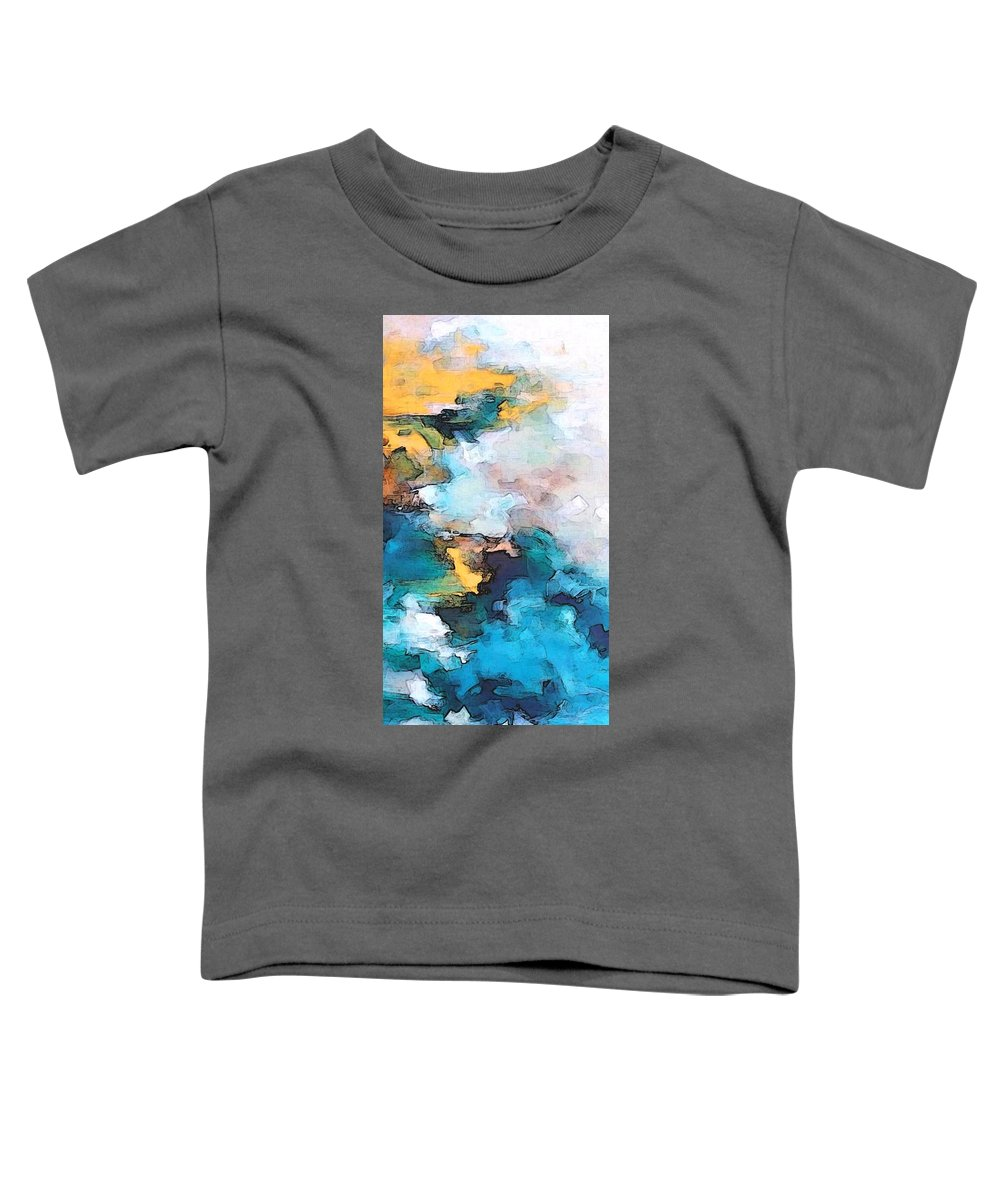 Abstract Toddler T-Shirt featuring the digital art Sweet Memory Shades by Linda Mears
