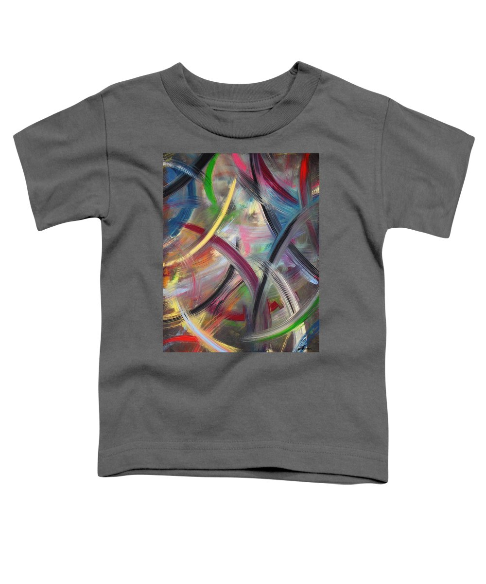 Acrylic Toddler T-Shirt featuring the painting Swish by Todd Hoover