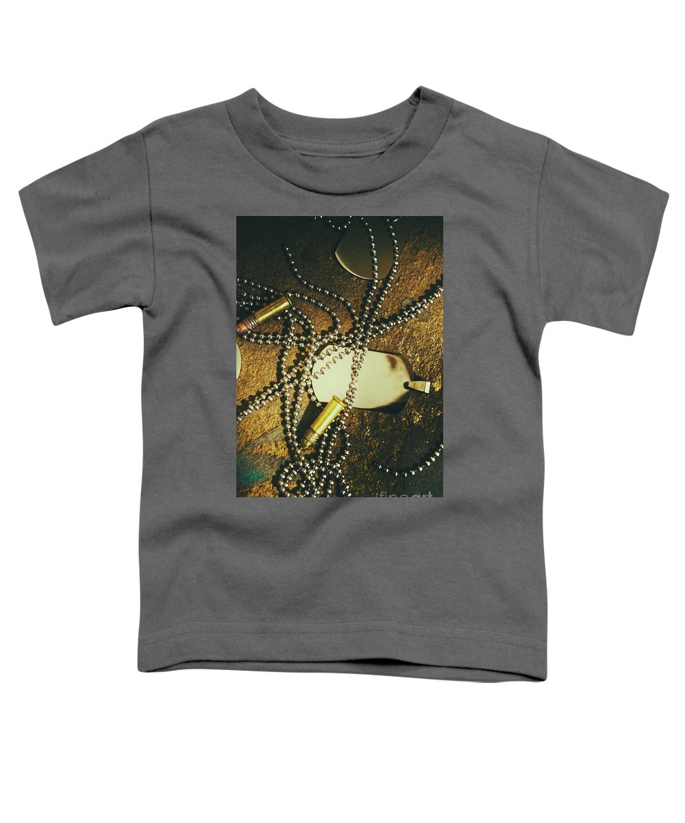 Military Toddler T-Shirt featuring the photograph Tagging The Fallen by Jorgo Photography - Wall Art Gallery