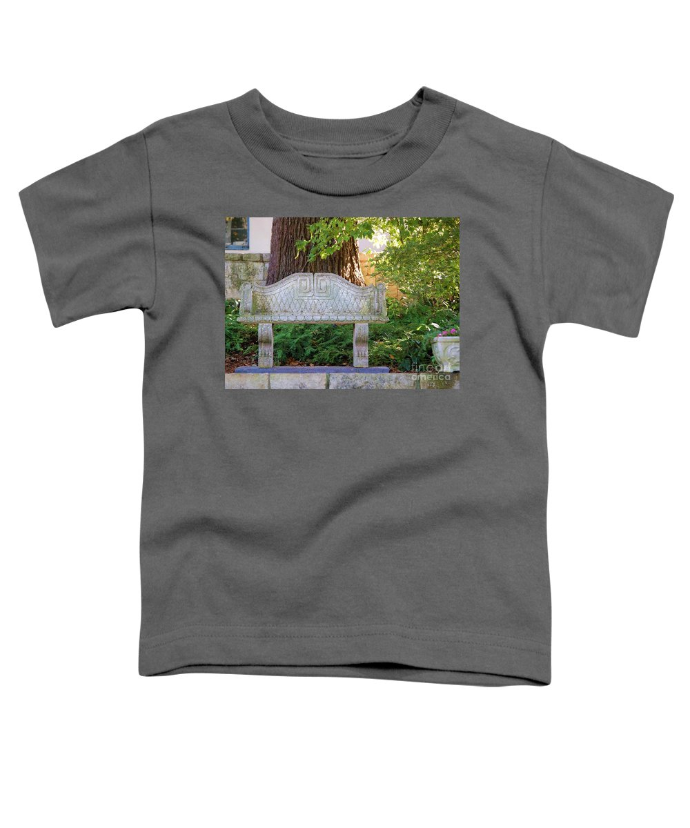 Bench Toddler T-Shirt featuring the photograph Take A Break by Debbi Granruth