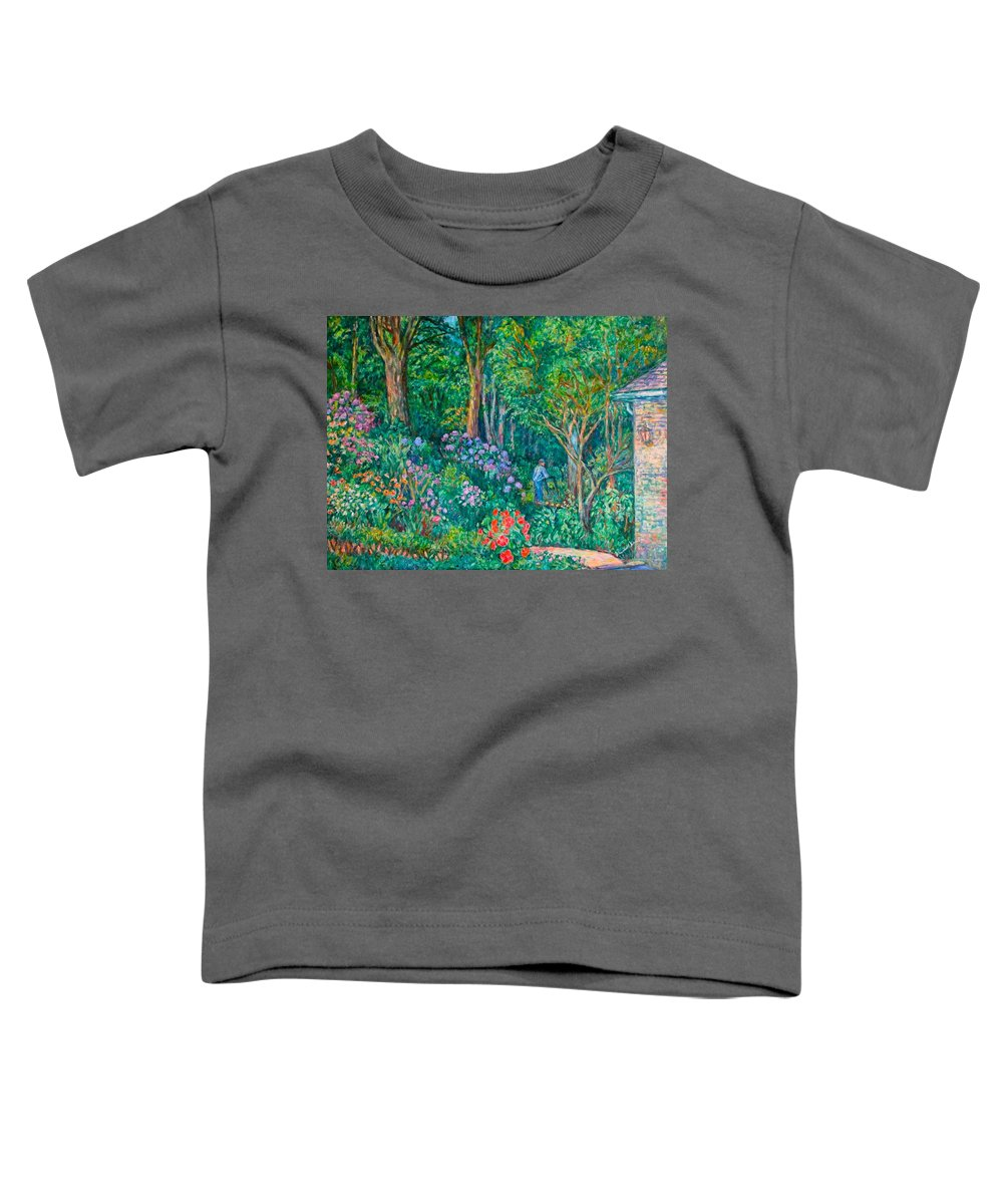 Suburban Paintings Toddler T-Shirt featuring the painting Taking A Break by Kendall Kessler
