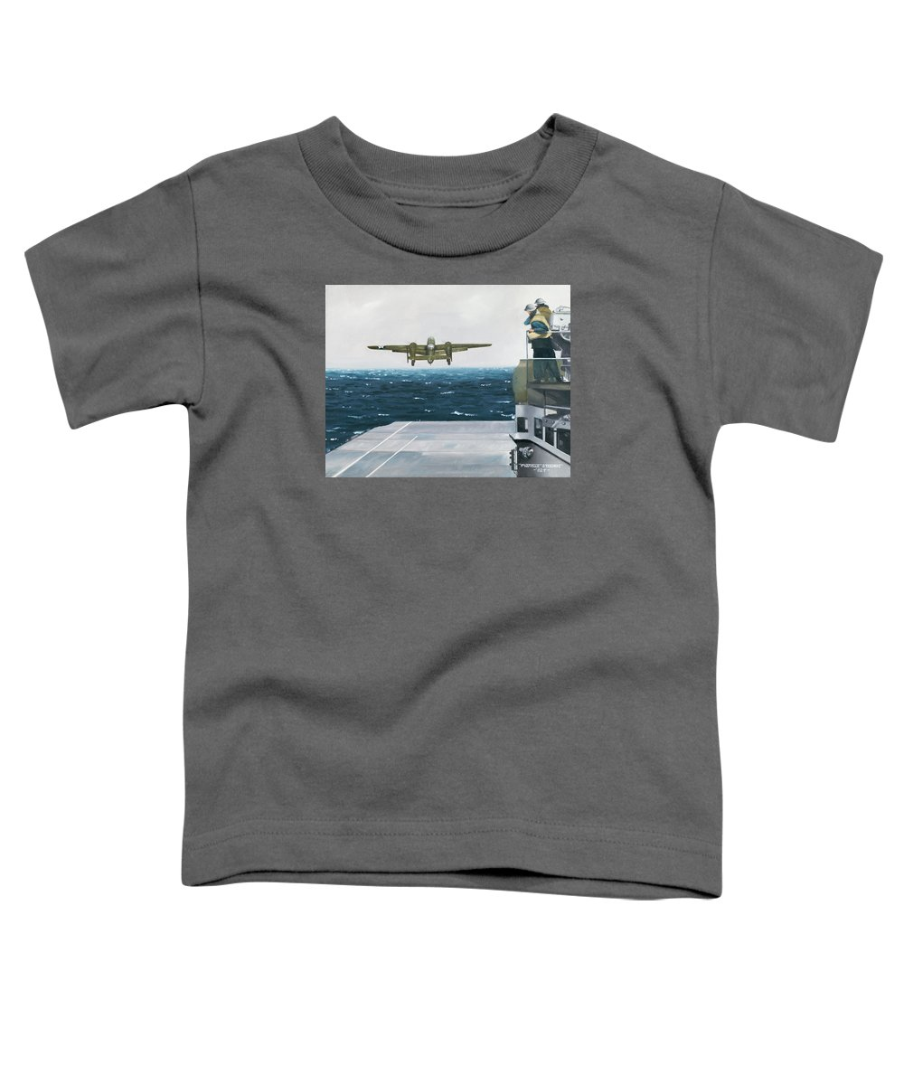 Aviation Toddler T-Shirt featuring the painting Target Tokyo by Marc Stewart