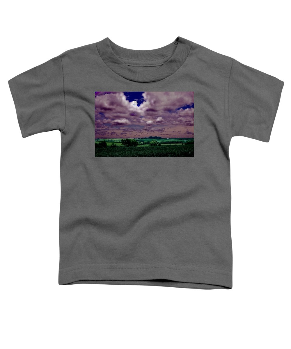 Landscape Toddler T-Shirt featuring the photograph Tarkio Moon by Steve Karol