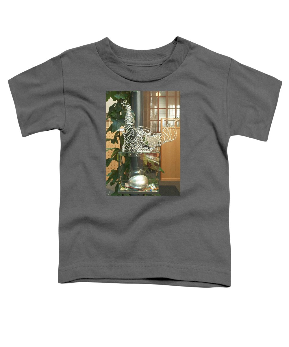 Toddler T-Shirt featuring the sculpture Techno Hen by Jarle Rosseland