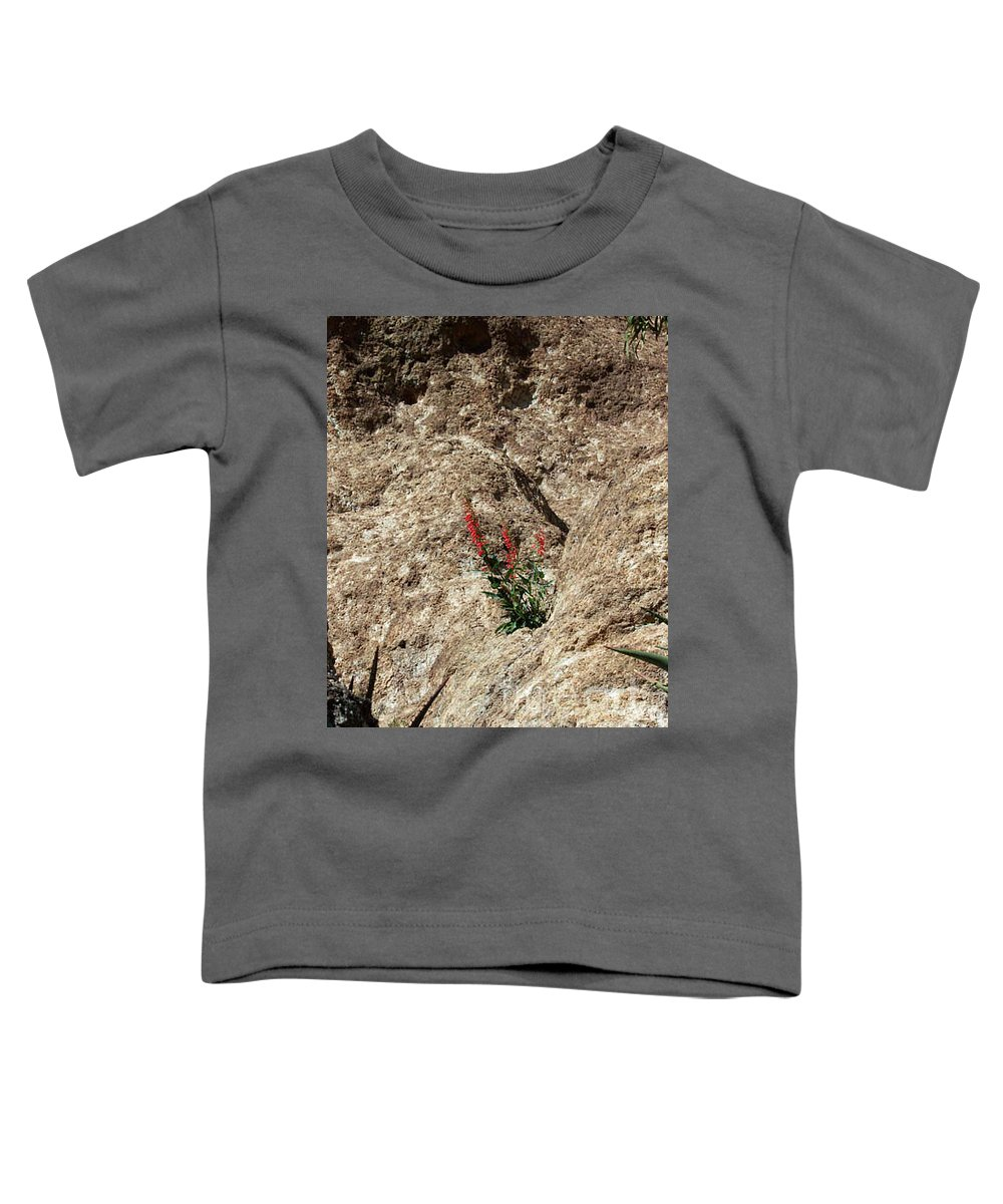 Wildflowers; Flowers Toddler T-Shirt featuring the photograph Tenacity by Kathy McClure