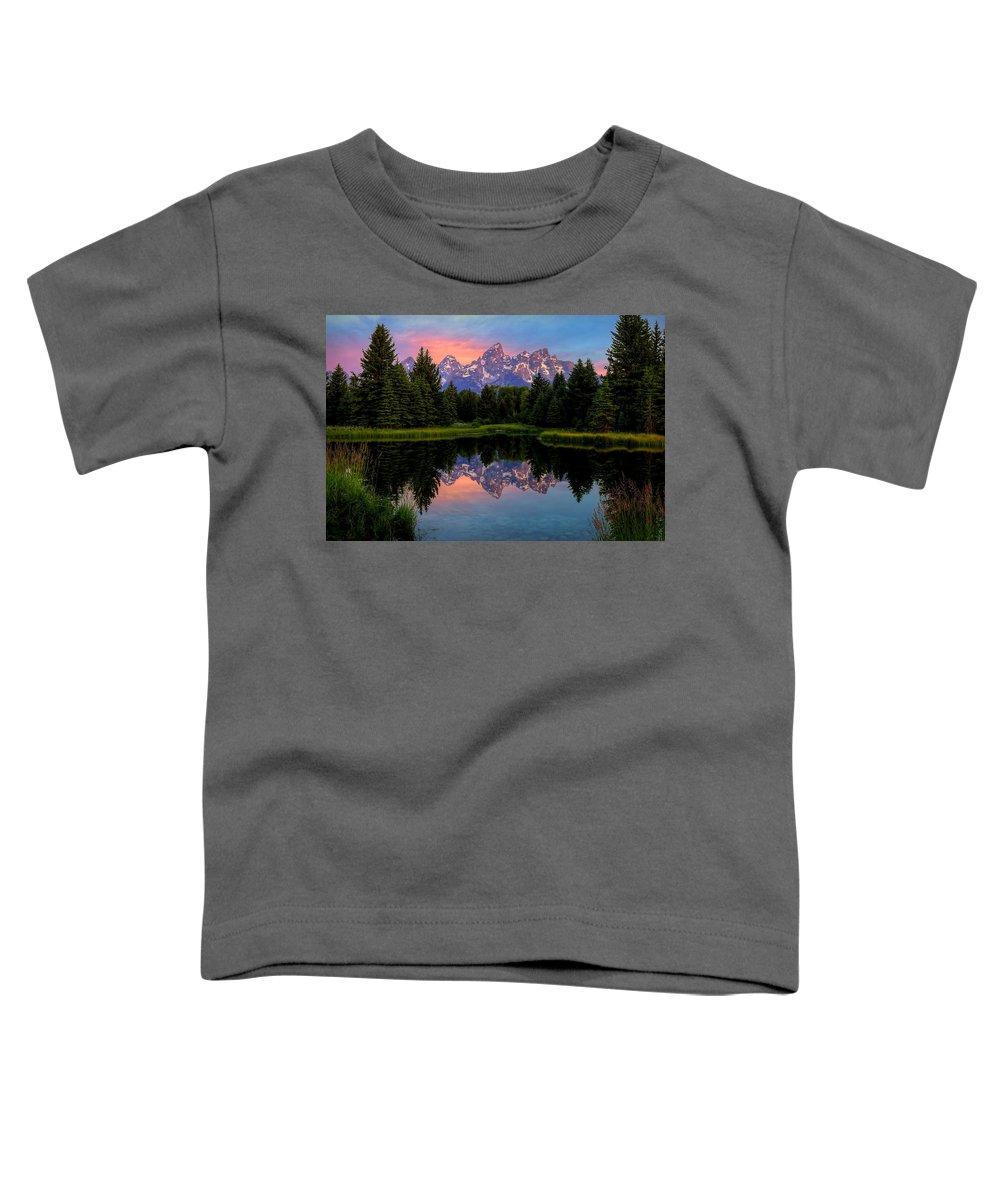 Tetons Toddler T-Shirt featuring the photograph Teton Mornig Glow by Ryan Smith