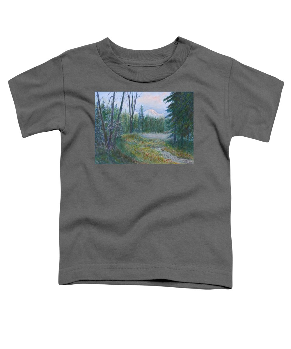 Landscape Toddler T-Shirt featuring the painting Teton Valley by Ben Kiger