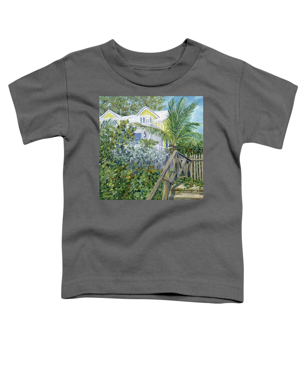 Beach House Toddler T-Shirt featuring the painting The Beach House by Danielle Perry
