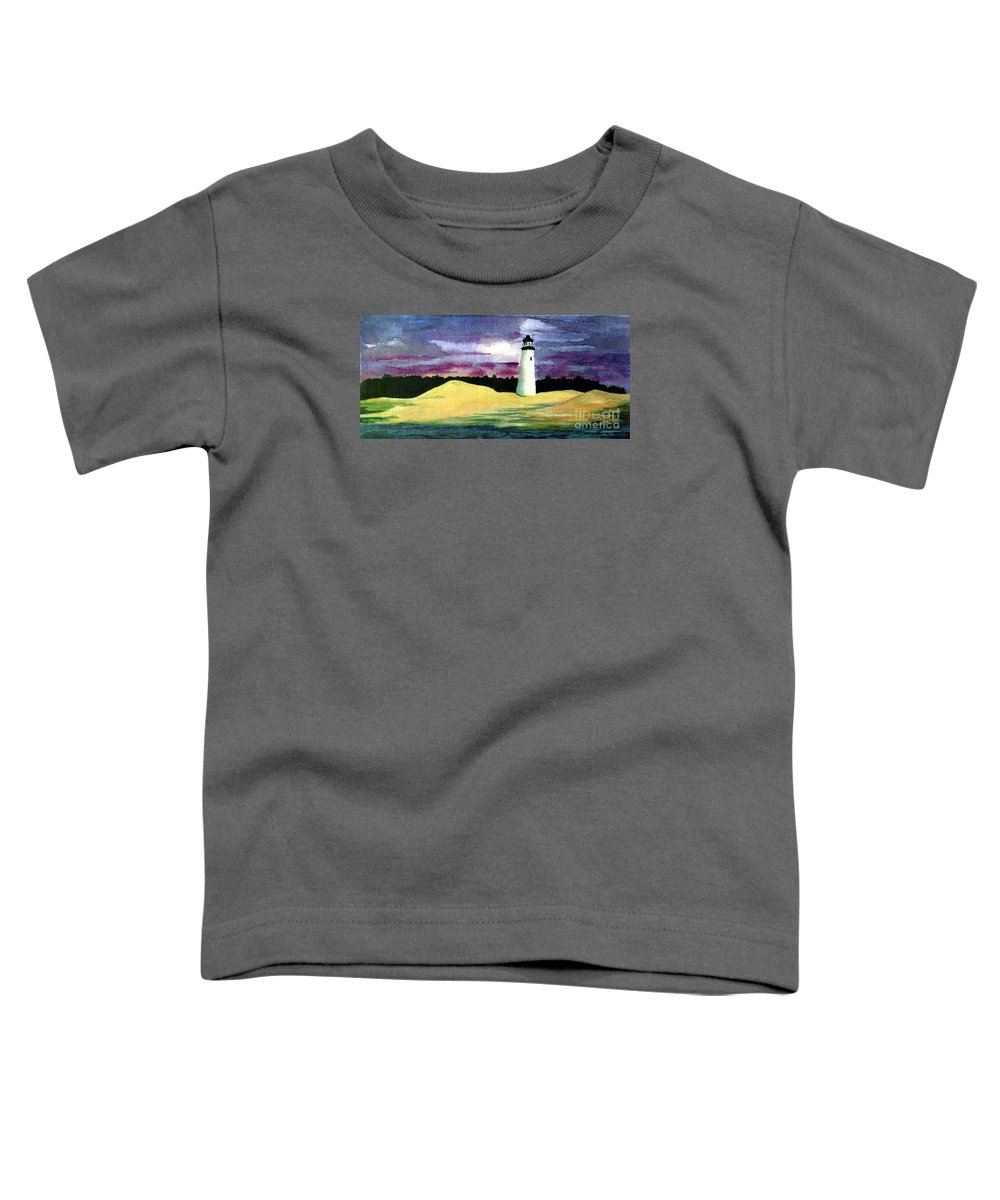 Fine Art Toddler T-Shirt featuring the painting The Beacon by Patricia Griffin Brett