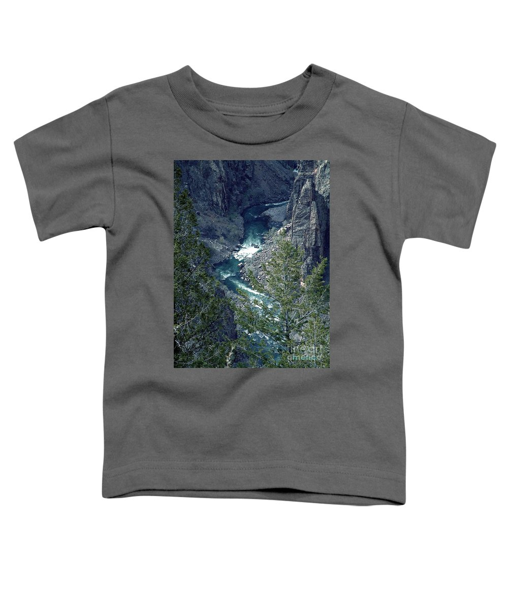 Canyon Toddler T-Shirt featuring the painting The Black Canyon Of The Gunnison by RC DeWinter