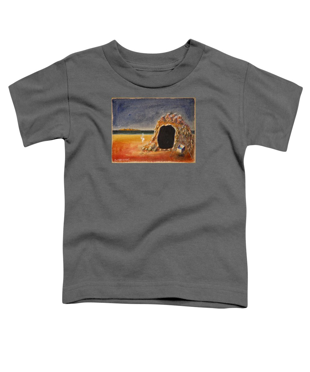 Metaphysacal Toddler T-Shirt featuring the painting The Cave Of Orpheas by Dimitris Milionis