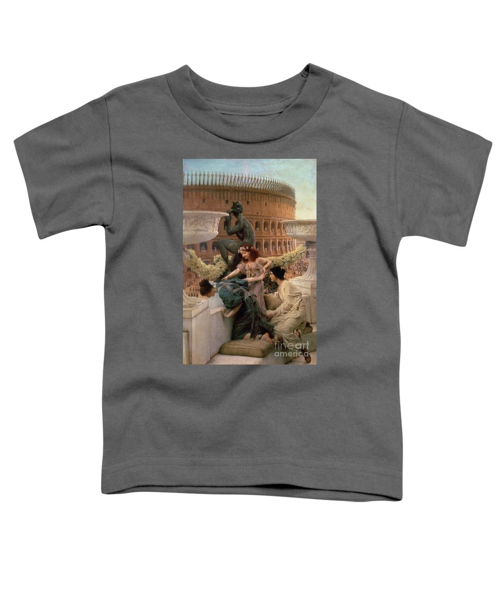 The Toddler T-Shirt featuring the painting The Coliseum by Sir Lawrence Alma-Tadema