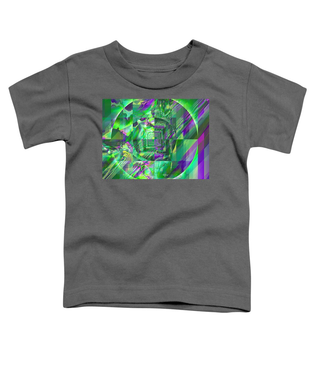 Fractal Toddler T-Shirt featuring the digital art The Crazy Fractal by Frederic Durville