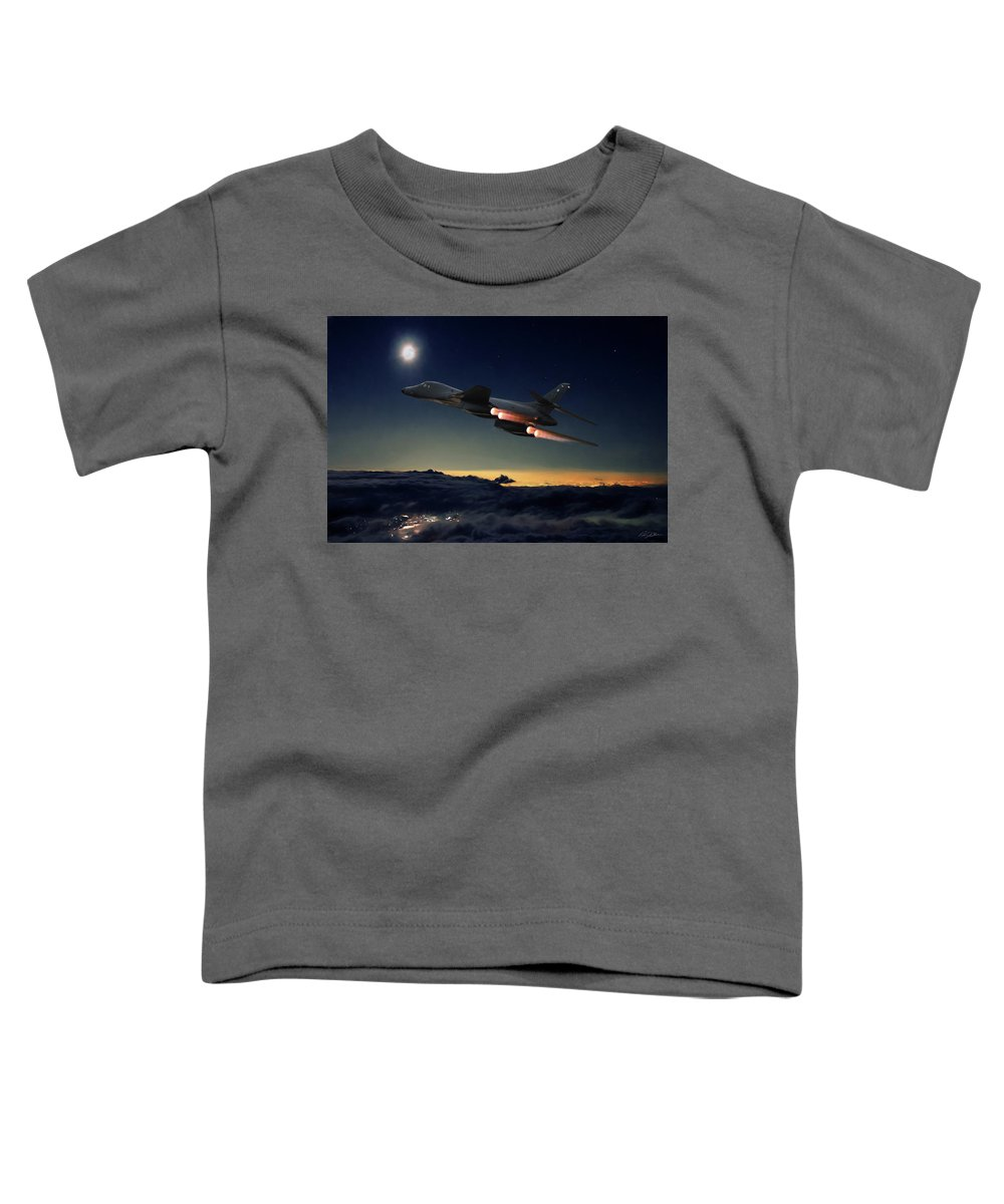 Aviation Toddler T-Shirt featuring the digital art The Dark Knight by Peter Chilelli