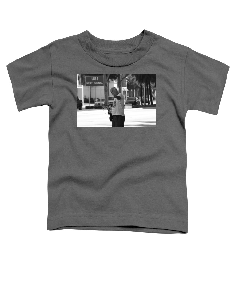 Black And White Toddler T-Shirt featuring the photograph The Devil Man by Rob Hans