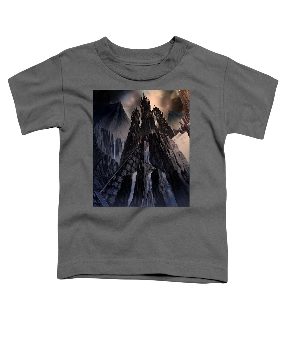 Architectural Toddler T-Shirt featuring the mixed media The Dragon Gate by Curtiss Shaffer