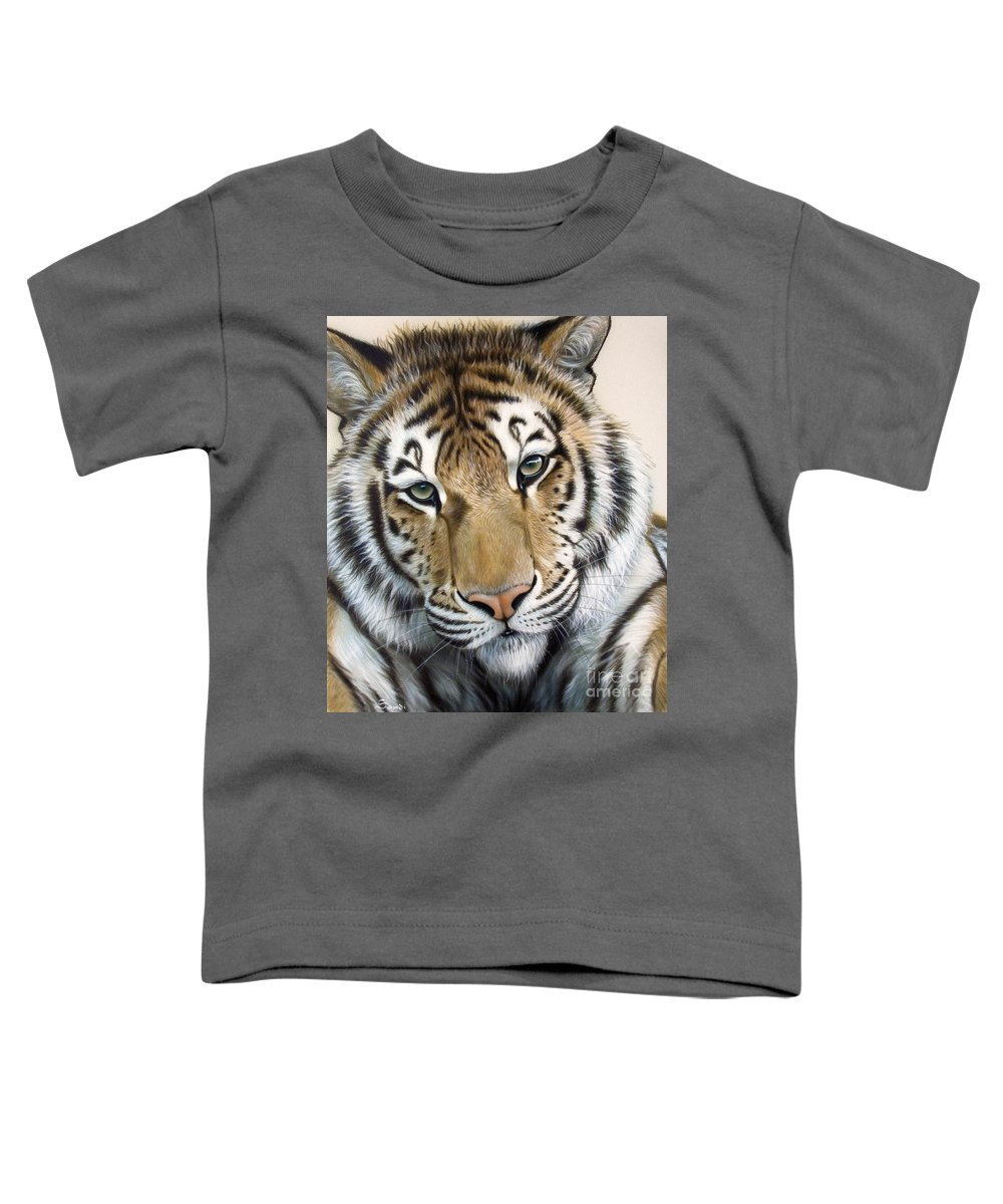 Acrylic Toddler T-Shirt featuring the painting The Embrace by Sandi Baker