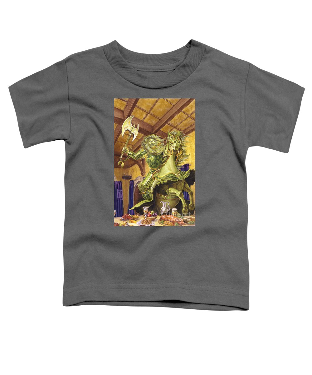 Fine Art Toddler T-Shirt featuring the painting The Green Knight by Melissa A Benson