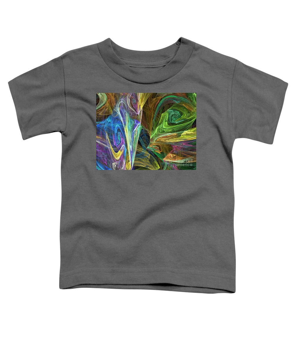Fractals Toddler T-Shirt featuring the digital art The Groove by Richard Rizzo