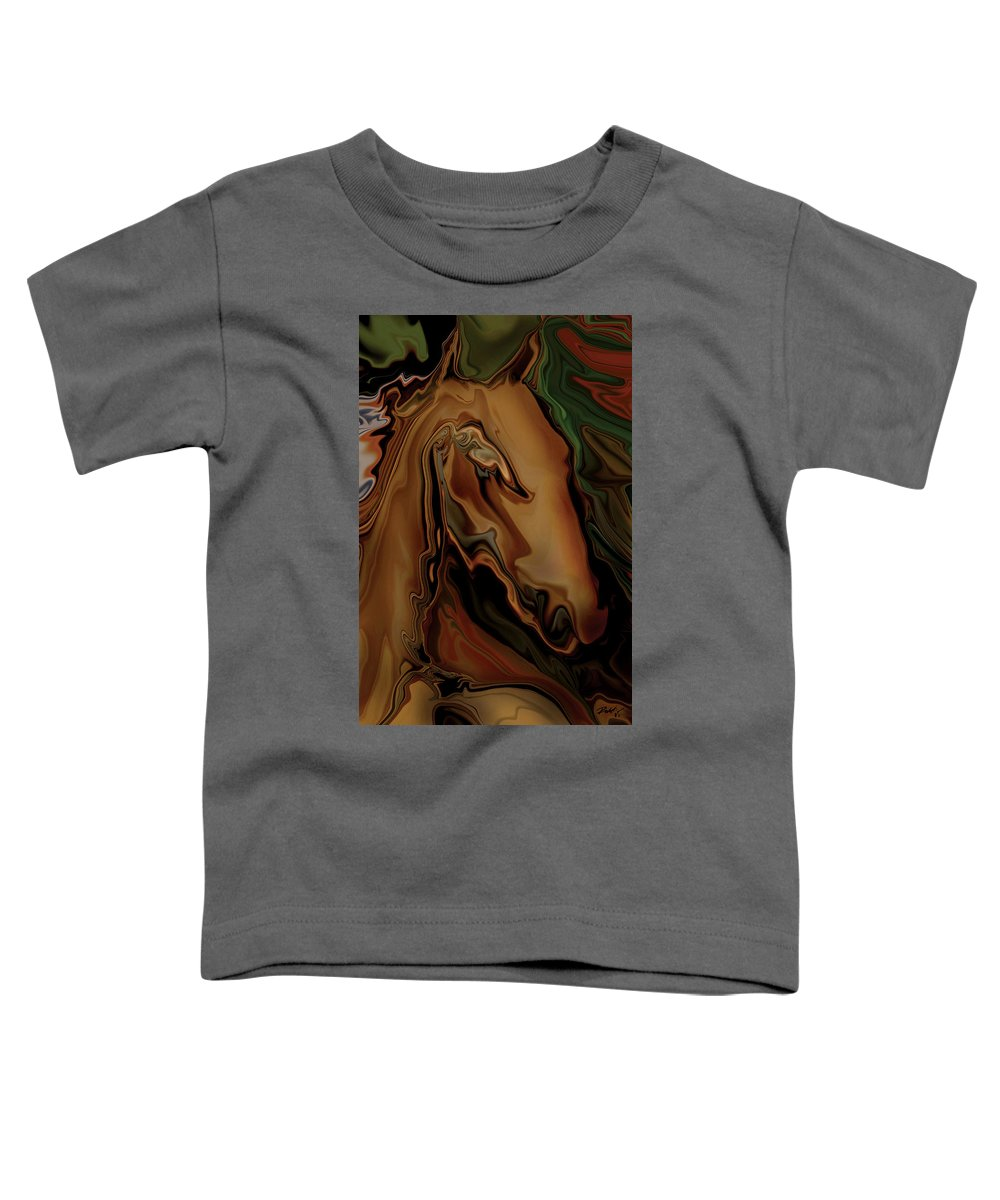 Animal Toddler T-Shirt featuring the digital art The Horse by Rabi Khan
