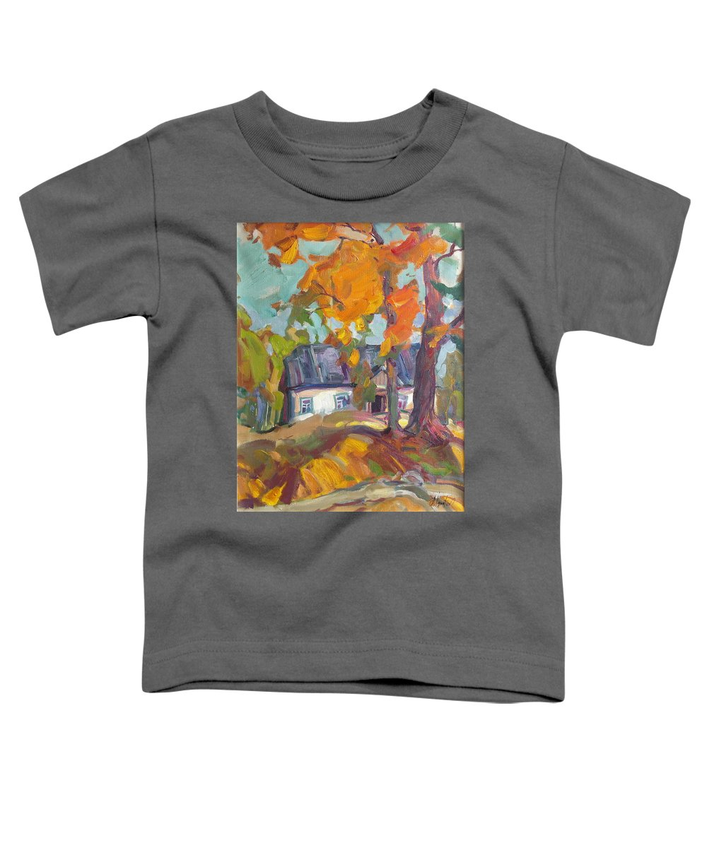 Oil Toddler T-Shirt featuring the painting The House In Chervonka Village by Sergey Ignatenko